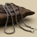 Silver 925 String Weave Cord Chain For Necklace Men Women 100% Real 925 Sterling Silver Thai Silver Chain Dia 2mm, 45~80cm