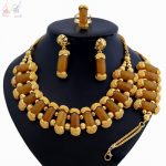 YULAILI 2018 New Exquisite Fashion Pure Gold Color <b>Jewelry</b> Set High Quality Nigerian Wedding African Beads <b>Accessories</b>
