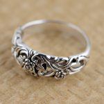 Silver ring S925 sterling silver <b>jewelry</b> wholesale <b>antique</b> style hollow rose simple fashion style