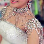 Vintage Bridal Rhinestone crystal necklace Shoulder chain shawl harness Necklace luxury Wedding Party Body <b>Jewelry</b> <b>accessory</b>