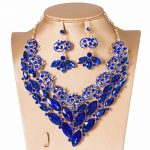 2018 nigerian wedding <b>accessories</b> bride <b>jewelry</b> set with glass necklace and drop earring austrian crystal <b>jewelry</b> free shipping