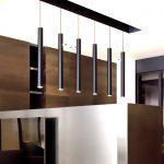 6CM diameter Black LED lamp chandelier creative long cylindrical hotel restaurant bar sets <b>jewelry</b> showcase single head lamps