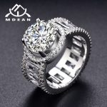 MDEAN White Gold Color Wedding Rings for Women AAA zircon Engagement <b>Jewelry</b> for Bague Bijoux <b>Accessories</b> Size 6 7 8 9 H321