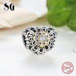 Fit pandora charm Bracelet Silver 925 Original Crystal Zircon Love Hearts diy beads crafts <b>Antique</b> <b>Jewelry</b> making women Gifts
