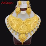 Adixyn 60cm/24inch Rope Chain/Earrings <b>Jewelry</b> Set For Women Girls Gold Color Elegant Ethiopian/African Wedding <b>Accessories</b>