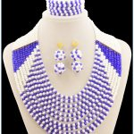 Nigerian <b>Accessories</b> Wedding African Beads <b>Jewelry</b> Set Crystal Vintage Earring Bracelet Necklace Jewellery
