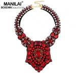 MANILAI Crystal Bead Luxury Collar Choker Necklace Women <b>Accessories</b> Indian Style Handmade Bib Maxi Necklaces Statement <b>Jewelry</b>