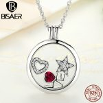 Memory Pendant Necklace Genuine 100% 925 Sterling Silver Medium Floating Locket Necklaces & Pendants <b>Jewelry</b> Making <b>Accessories</b>