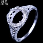 <b>Art</b> <b>Deco</b> Antique <b>Jewelry</b> Fine Engrave Semi Mount Round Cut 7-8mm Solitaire Sterling Silver 925 Engagement Wedding Ring wholesale