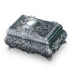 Greek Mythology Europa Baroque Ring Necklace Rose LOTR <b>Jewelry</b> Box Case Holder Treasure Box Metal Crafts Home Decor