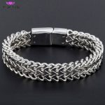 <b>Jewelry</b> Men Bracelet Cuban links & chains Silver Stainless Steel Bracelet for Bangle Male <b>Accessory</b> Wholesale Free Shipping
