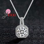 YAAMELI Romantic Necklace Pendants <b>Jewelry</b> For Women With Box Chain Luxury Big CZ Crystal Stone 925 Sterling Silver <b>Accessories</b>