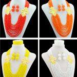 Amazing Nigerian Wedding African Beads <b>Jewelry</b> Set Crystal Beads Necklace Earrings Bracelet Sets For Women Wedding <b>Accessories</b>