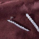 Clearance AAA Cubic Zirconia Brand Earrings Nickel Free Wedding Bijoux <b>Accessories</b> Bride Women Fashion <b>Jewelry</b> Fine Earring Gift