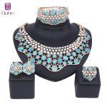 Nigerian Water Drop Wedding <b>Jewelry</b> Sets Indian Bride <b>Accessories</b> Crystal Cat's Eye Choker Necklace Women Beads <b>Jewelry</b> Set