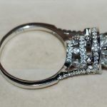 <b>Antique</b> <b>jewelry</b> 8MM 3CT Stunning Vintage 925 Sterling Silver Simulated stones White AAA CZ Femal Women Wedding Ring Size 5-11
