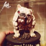 2018 Cosplay Animal Handmade French Bulldog Ring Personality Brass Vintage Rings Punk <b>Jewelry</b> for Men Boy Party <b>Accessories</b>