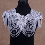 Luxury Full Crystal Bridal Choker Necklace Wowen Shoulder Chain Wedding <b>Accessories</b> Vintage Big Shoulder Lace Strap <b>Jewelry</b>