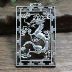 Do the old <b>antique</b> collection exquisite <b>jewelry</b> carved dragon pendant engraved sign paktong