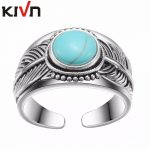 KIVN Fashion <b>Jewelry</b> Adjustable <b>Antique</b> Vintage Indian Feather Wedding Bridal Engagement Ring For Womens Girls Birthday Gifts