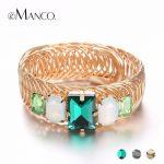eManco Wholesale Luxury Big Bangles 3 Items Bangles for Women Elasticity Adjustable Mixed Color Bangle <b>Accessories</b> Brand <b>Jewelry</b>