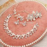 <b>Jewelry</b> set pearl <b>jewelry</b> flower headdress necklace earrings wedding <b>accessories</b> bridal three-piece suit <b>Jewelry</b> Sets