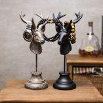 American style home decoration, villa, bar, bookstore decorations, <b>antique</b> deer head <b>jewelry</b> rack