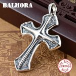 BALMORA 925 Sterling Silver Cross Pendants for Women Men Religious <b>Jewelry</b> <b>Accessories</b> Silver Pendant Without a Chain SY11356
