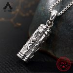 S925 Sterling Sliver <b>Antique</b> Openbale Pendant Necklace <b>Jewelry</b> for Men and Women Retro Thai sliver Remembrance <b>Jewelry</b> Gift