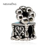 Authentic 925 Sterling Silver Bead Charm <b>Antique</b> Phonograph Music Beads Fit Pandora Bracelets & Bangles Women DIY Gift <b>Jewelry</b>