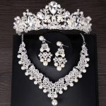 Fashion Crystal Crown Simulated Pearl Bridal <b>Jewelry</b> Sets Necklace Earring Sets for Women Wedding Tiara <b>Jewelry</b> Hair <b>Accessories</b>