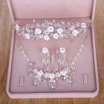 Bride Diaries Bead Flower Bridal <b>Jewelry</b> Sets acessorios para mulher wedding hair <b>accessories</b> bridal for women New 2018 Fashion
