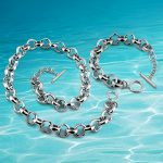 Men's necklace bracelet <b>accessories</b>, 925 sterling silver <b>Jewelry</b> Sets, men's <b>jewelry</b> wide version necklace personality cool
