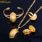 Ethlyn Bridge Shape Ethiopian Gold Color <b>Jewelry</b> Sets Women Wedding Party Black Rope Eritrean <b>Jewelry</b> Sets <b>Accessories</b> S065