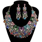 Peacock Design Bridal <b>Jewelry</b> Sets Wedding Statement Necklace Earring For Brides Women Party Dress <b>Jewelry</b> <b>Accessories</b> Multi