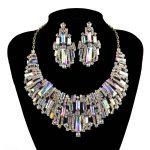 Trendy Wedding <b>jewelry</b> sets rhinestone Austrian Crystal Women party necklace earrings set Bridal Dress <b>Jewelry</b> <b>Accessories</b>