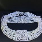 classic natural fresh water pearl choker necklace and bracelet <b>jewelry</b> set 34CM adjusable wedding necklace 925 <b>sterling</b> <b>silver</b>