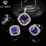 CC Vintage Wedding <b>Jewelry</b> Sets For Women 3pcs Ring Stud Earrings Pendant Necklace Bridal Engagement <b>Accessories</b> CCAS179e