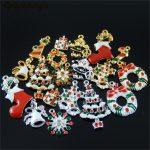 15pcs Hot Wholesale Christmas Hanging <b>Art</b> Mix Colorful <b>Jewelry</b> Making Charms Handmade Crafts Accessory Christmas <b>Deco</b> Gifts