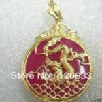 <b>antique</b> unusual Fancy Red gem stone Dragon Pendant Necklace necklaces for silver <b>jewelry</b>