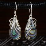 natural abalone shell Silverstone <b>antique</b> Earrings Sterling silver <b>jewelry</b> pearls earrings silver <b>jewelry</b> wholesale Ms.
