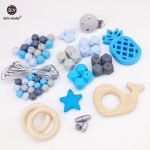 Let's Make Baby <b>Accessories</b> Wooden Whale Silicone Beads Pineapple Food Grade DIY Teething <b>Jewelry</b> Nursing Necklace Pendant