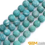 8mm Frosted Matt <b>Antiqued</b> Green Natural Russia Amazonite Stone Beads DIY Loose Beads For <b>Jewelry</b> Making Strand 15 Inch Wholesale