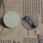 40pcs/Lot 15mm,18mm Pad/Tray <b>antique</b> bronze vintage cabochon brooches pin base blank settings diy <b>jewelry</b>,garment accessories