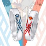 Anime DARLING In the FRANXX Cosplay Ring 925 Silver Zero Two Couples Rings 02 Cos Gift Daily <b>Accessories</b> for Lovers <b>Jewelry</b>