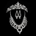Luxury Bridal <b>Jewelry</b> Sets Wedding Necklace Earring For Brides Party <b>Accessories</b> Leaf Flowers Decoration Gift Women