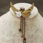 Steampunk Gothic Gears Brooch Pins Mens Women Vintage <b>Antique</b> <b>Jewelry</b> Handmade Badge