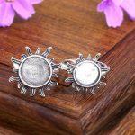 <b>Art</b> <b>Deco</b> 10MM 12mm Round Cabochon Semi Mount Engagement Ring 925 Sterling Silver Fine <b>Jewelry</b> Setting