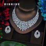 HIBRIDE Sparkling Marquise Cut Cubic Zirconia Big Full <b>Jewelry</b> Sets Women Bride Necklace Set Dress <b>Accessories</b> Party Show N-340