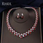 RAKOL Luxury Sparking Brilliant Cubic Zircon Drop Earring Necklace Heavy Dinner <b>Jewelry</b> Set Wedding Bridal Dress <b>Accessories</b>